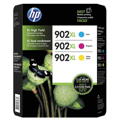 HP 902XL Cyan Magenta & Yellow Original Ink Cartridges, 3 pack