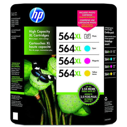HP Photsmart 564XL 4 Pack C,M,Y and Photo Black