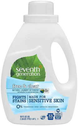 Seventh Generation Laundry Products Free & Clear High Efficiency Liquids 2X Concentrates (32 Loads) 50 fl. oz. (a)