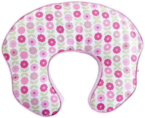 Comfort & Harmony mombo Deluxe Covered Nursing Pillow Slipcover, Blush N' Bloom