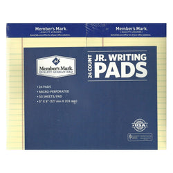 Member's Mark Perforated Writing Pad, Canary, 24 Count