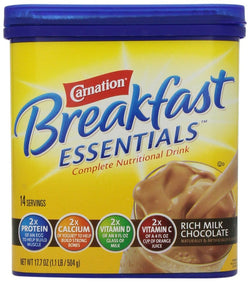 Carnation Breakfast Essentials, Rich Milk Chocolate Powder, 17.7oz