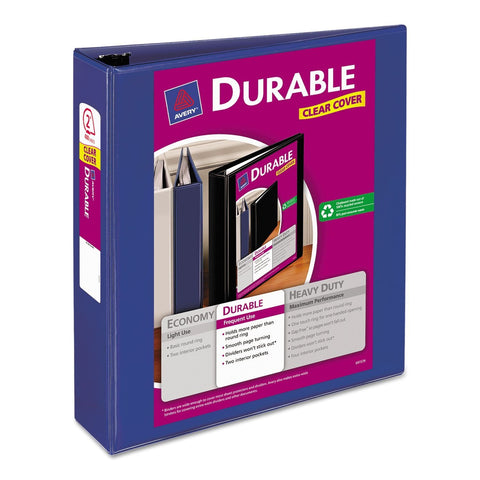 Avery Durable View Binder, 3-Inch Slant Rings, 600-sheet Capacity, Blue (17034)