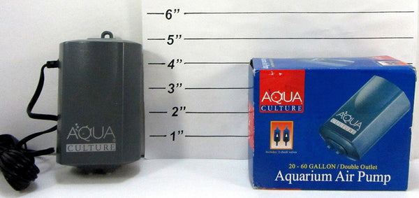 20 - 60 Gallon Aquarium Air Pump by Aquaculture