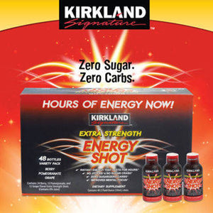 Kirkland SignatureTM Extra Strength Energy Shot 48 Count, 2 Ounces Each