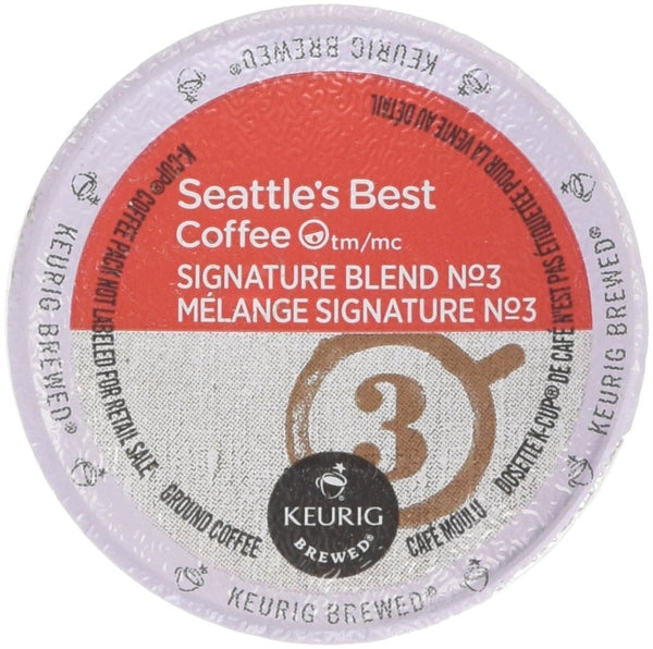 Seattles Best Coffee Signature Blend Number 3, Medium & Balanced K-cup 16 Packs
