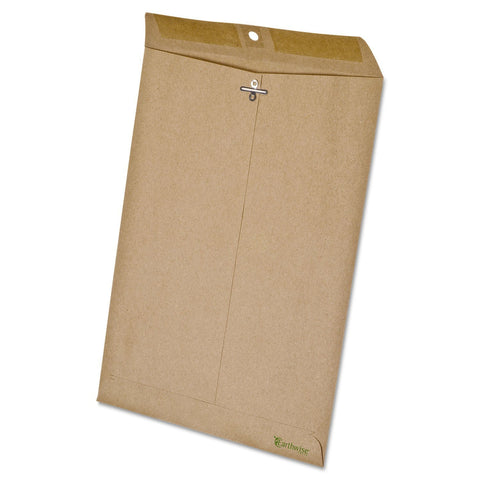 Tops 19705 100% Recycled Paper Clasp Envelope, Side Seam, 9 x 12, Natural Brown, 110/Box