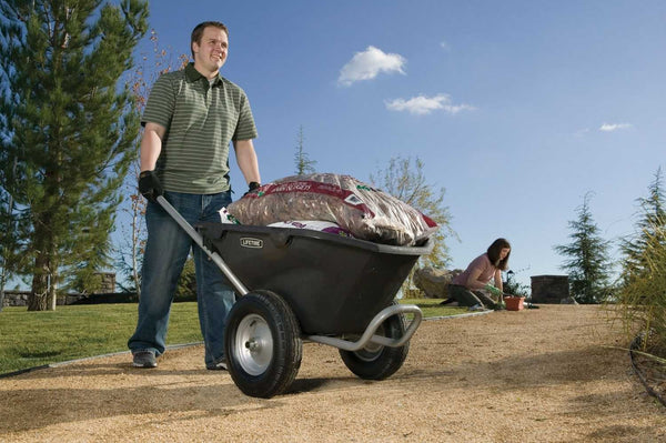 Lifetime 65034 Two Wheel Wheelbarrow, 6.5 Cubic Feet Capacity