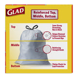 Glad Odorshield Tall Kitchen Drawstring Trash Bags, 40 Count