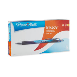 Paper Mate InkJoy 550RT Retractable Ballpoint Pens, Medium Point, Blue, 12-Count
