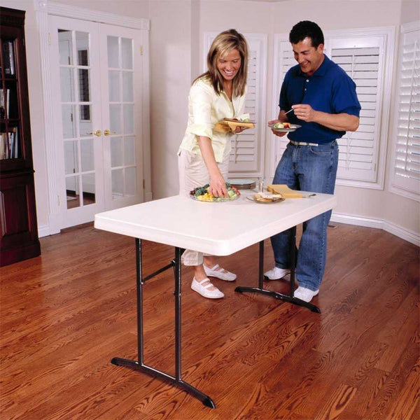 Lifetime 22645 Commercial Folding Table, 4 Feet, Almond