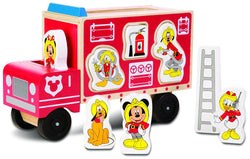 Melissa & Doug Disney Baby Mickey Mouse and Friends Wooden Fire Truck (10 pcs)