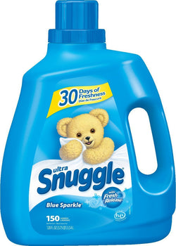 Snuggle Ultra Fabric Softener Liquid, Blue Sparkle, 120 Fluid Ounce