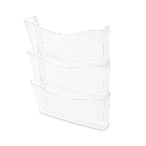 Rubbermaid Unbreakable Three Pocket Wall File Set, Letter
