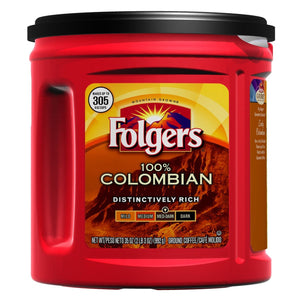 Folgers 100% Colombian Blend Ground Coffee, 35-oz Can