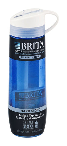 Brita Hard Sided Bottle Bpa Free 24 Oz Drinking Straw Blue