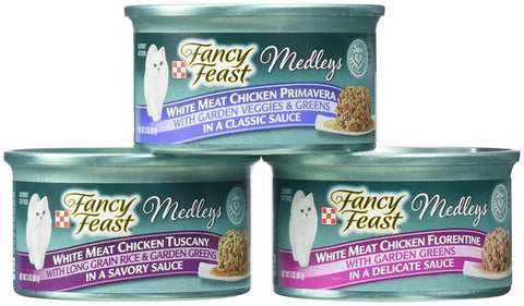 Fancy Feast Purina Medleys Variety Collection Cat Food - White Meat Chicken Recipe - 3 oz, 12 Case