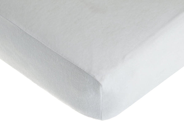 American Baby Company Newly Improved 100% Cotton Flannel Fitted Crib Sheet, White