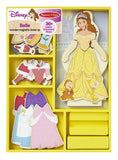 Melissa & Doug Disney Belle Magnetic Dress-Up Wooden Doll Pretend Play Set (30+ pcs)