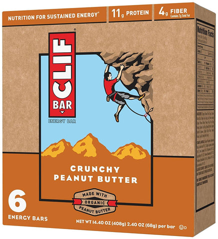Clif Energy Bars - Crunchy Peanut Butter - 2.4 oz - 6 Ct