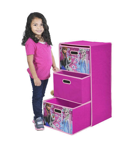 Disney Frozen Foldable 3-Drawer Storage Organizer