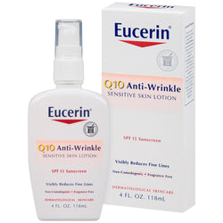 Eucerin Sensitive Facial Skin Q10 Anti-Wrinkle Sensitive Skin Lotion with SPF 15 Sunscreen