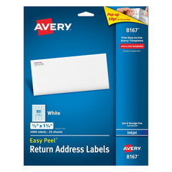 Avery Easy Peel Return Address Labels for Inkjet Printers