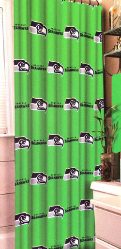 Seattle Seahawks NFL Football Team Fabric Shower Curtain