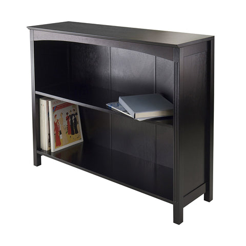 Winsome Terrace Storage Shelf 3-Tier Wide in Espresso