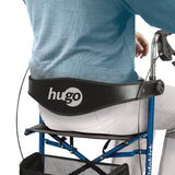 Hugo Mobility Sidekick Side-Folding Rollator Walker with Seat