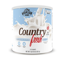 Augason Farms Country Fresh 100% Real Instant Nonfat Dry Milk 29 oz #10 Can