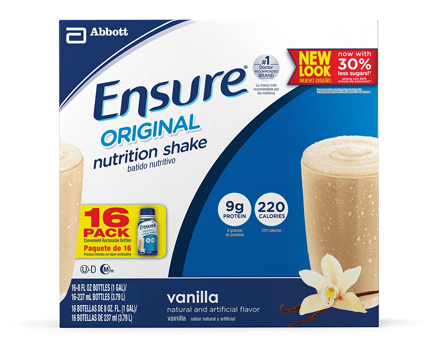 Ensure Original Nutrition Shake, Vanilla, 8 ounces, 6 count