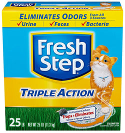 Fresh Step Triple Action, Clumping Cat Litter, Scented, 25 Pounds