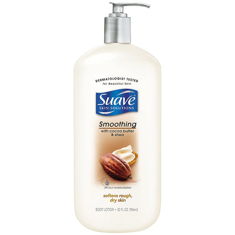 Suave Skin Solutions Shower Lotion, Smoothing with Cocoa Butter and Shea 32 oz