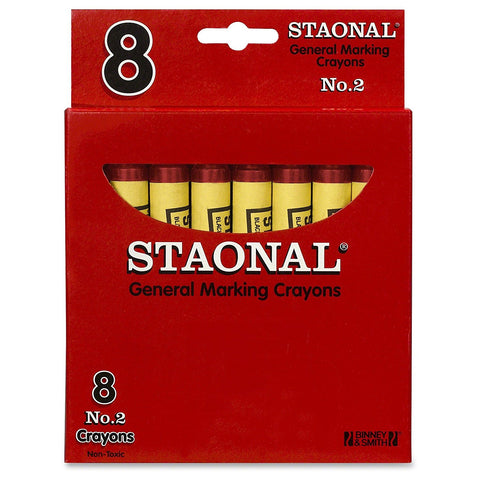 Crayola Staonal General Marking Crayons, Red