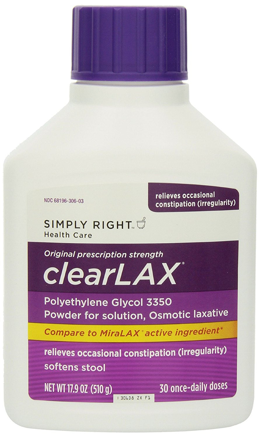 Member Mark Clearlax Calorie Counter, 3 bottles (30 Count each)