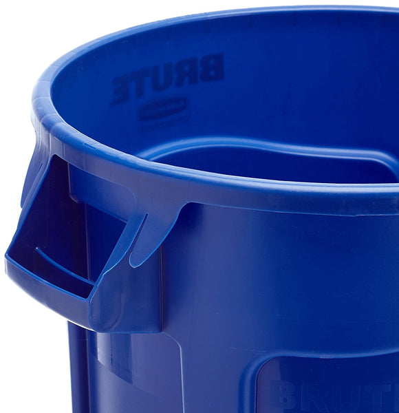 Rubbermaid Commercial Products FG263273BLUE-V Brute Recycling Container with Venting Channels, 32 gal, Blue