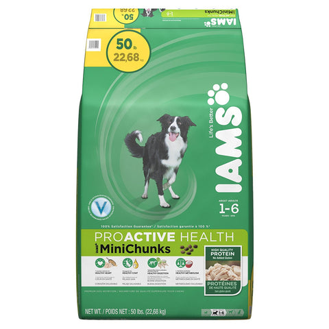 Iams ProActive Health Adult MiniChunks Premium Dog Nutrition, 50-Pound