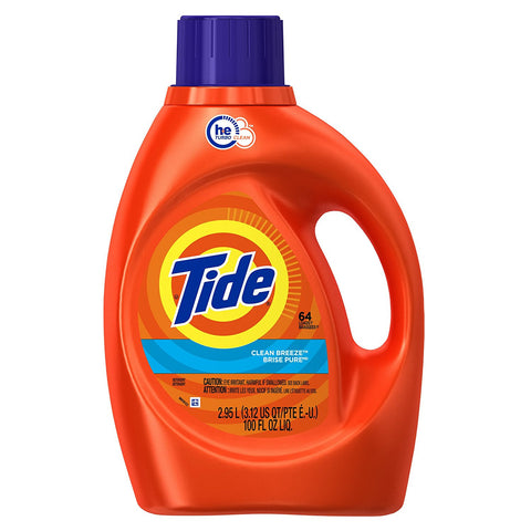 Tide HE Liquid Laundry Detergent - 100 oz - Clean Breeze