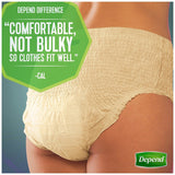 Depend Underwear for Women Moderate Absorbency Economy Plus Pack