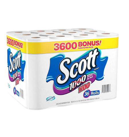 Scott 1000 Unscented Bath Tissue 36 Rolls