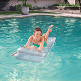 H2OGO! Metal Tech Lounge Inflatable Pool Float