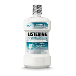 Listerine Healthy White Restoring Fluoride Rinse, Clean Mint, 32 oz