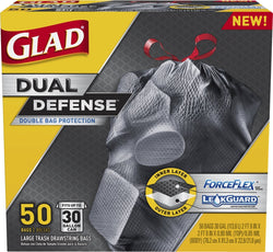 Glad ForceFlex Extra Strong Outdoor Drawstring Large Trash Bags