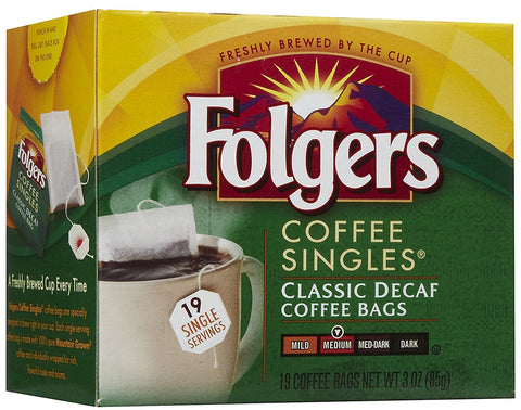Classic Decaffeinated Singles Coffee