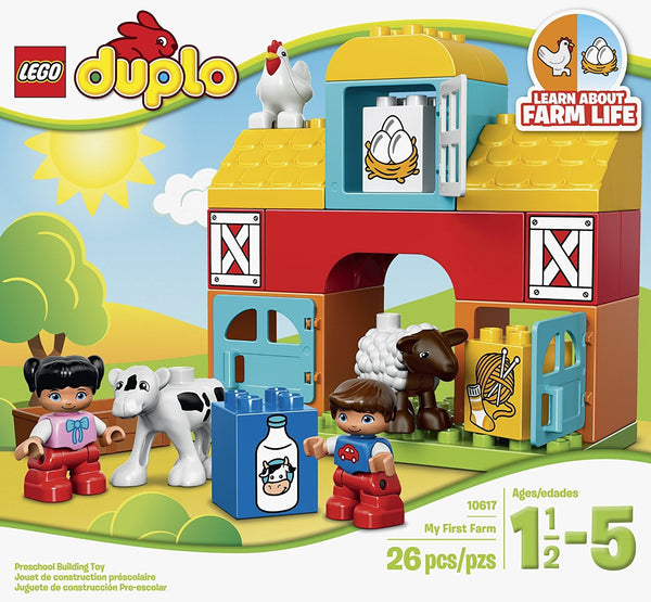 LEGO DUPLO My First Farm 10617, Preschool, Pre-Kindergarten Large Building Block Toys for Toddlers