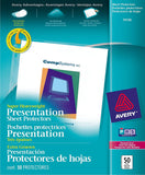 Avery Diamond Clear Super Heavyweight Sheet Protectors, Acid Free, Box of 50 (74130)