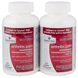 Member's Mark Arthritis Pain 650mg Acetaminophen Extended Release Pain Reliever Fever Reducer Caplets