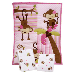 Little Bedding by NoJo 3 Piece Little Monkeys Portable Crib Bedding Set