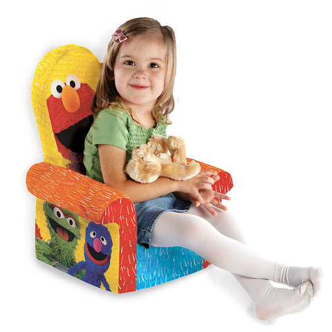 ... Marshmallow Furniture, High Back Chair, Sesame Street Elmo